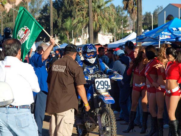 Ths start of the Baja 1000 in Ensenada Mexico