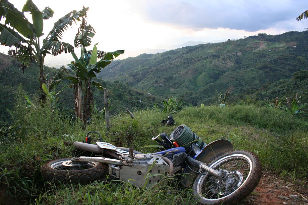 Colombia - Stuck in a banana field somewhere near Manizales