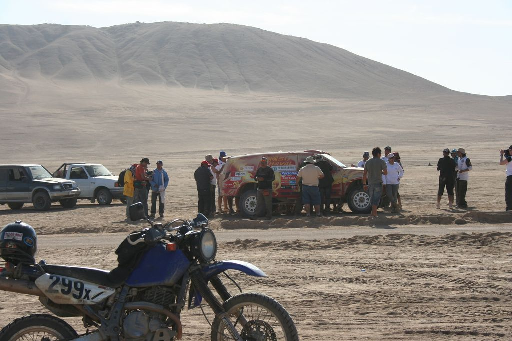 Chile - Near Arica for a Stage of the 2011 Dakar Rally