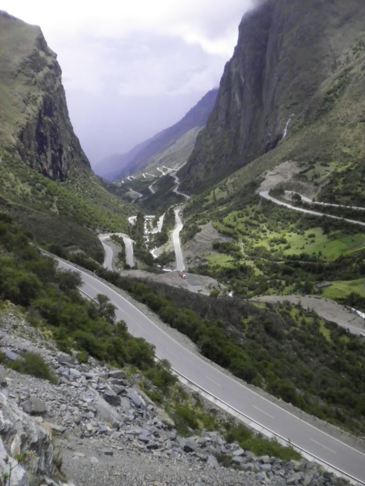 The Andes in Peru between Ollantaytambo and Santa Maria enroute to Machu Picchu